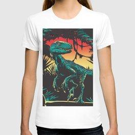Dinosaur at night T-shirt