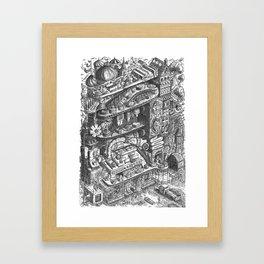 Farmer Machinery Framed Art Print