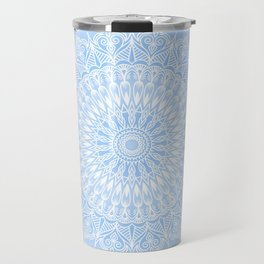 Baby Blue Mandala Travel Mug