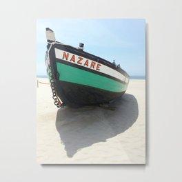 nazare canoe Metal Print