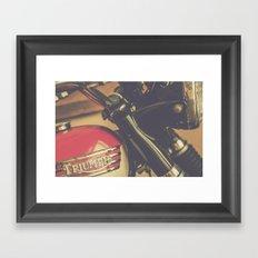 Vintage Triumph Bonneville Motorcycle Framed Art Print