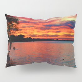 Sunset on Lake St. Clair in Belle River, Ontario, Canada Pillow Sham