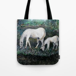 Dappled Mare with Dappled Foal Tote Bag