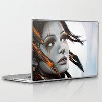 human Laptop & iPad Skins featuring Human by Ignacio de la Calle