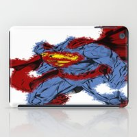 man of steel iPad Cases featuring Man Of Steel by alsalat