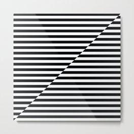 op art - inverted black and white stripes Metal Print