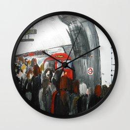 London Underground Part 3, England Acrylic On Canvas Board Fine Art Wall Clock