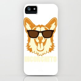 Incorgnito product Funny Vintage Corgi Lover Dog Pun Gift iPhone Case