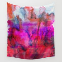 burgundy Wall Tapestries featuring Burgundy by Georgiana Paraschiv