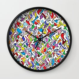 Whimsical Colors Wall Clock