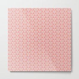 Living Coral Pattern III Metal Print