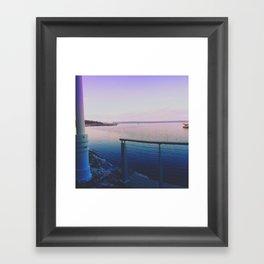 Purple Harbor  Framed Art Print