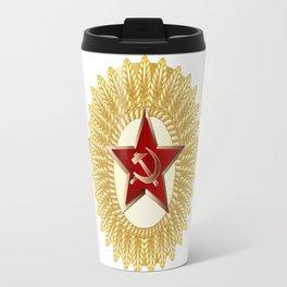 Soviet Officer Cap Badge Travel Mug