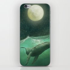 The Whale & The Moon iPhone & iPod Skin