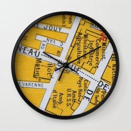 Paris Streets 1 Wall Clock