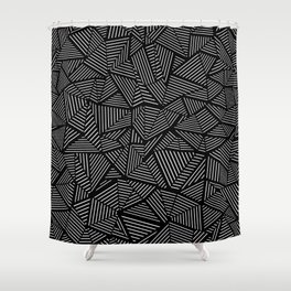 Abstraction Linear Shower Curtain
