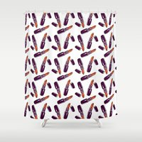 lipstick Shower Curtains featuring Lipstick  by Kate & Oleg