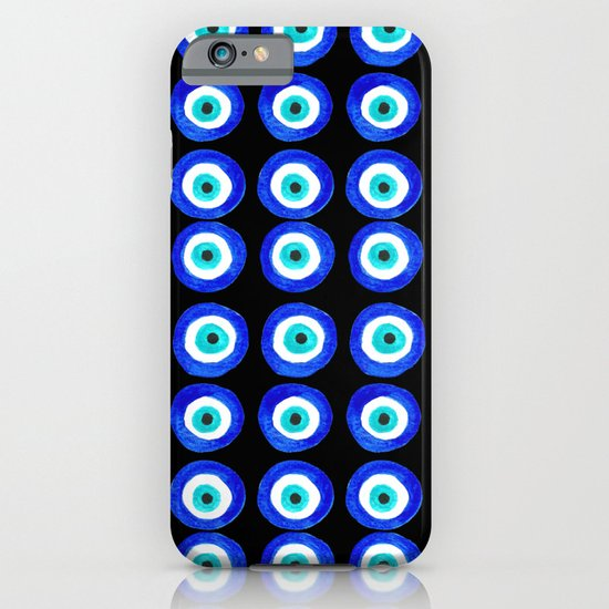 Evil Eye Talisman - on black iPhone & iPod Case