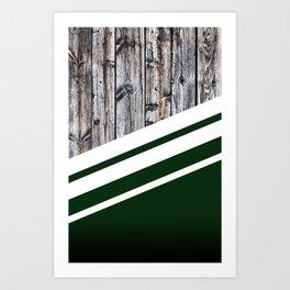 Rustic Wood Forest Art Print