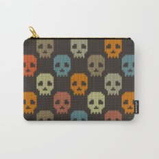 Knitted skull pattern - colorful Carry-All Pouch