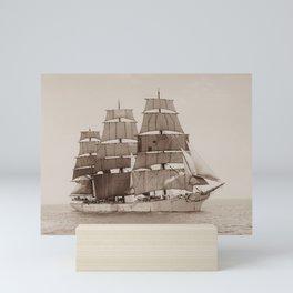 GD Kennedy Sailing At Sea Mini Art Print