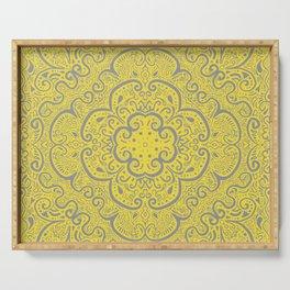 Illuminating Yellow & Ultimate Gray Pattern Serving Tray