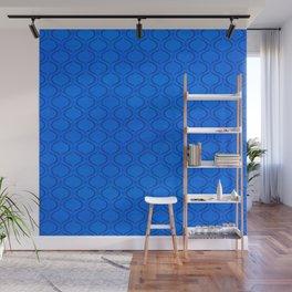 Classic Blue Moroccan Print Wall Mural