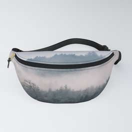 Misty forest Wicklow Mountains Ireland Fanny Pack