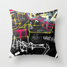New York Traces Throw Pillow