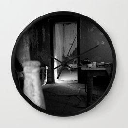 Fear of dust in my mouth is always with me Wall Clock