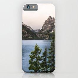 Grand Teton Wanderlust Lake Adventure - Nature Photography iPhone Case