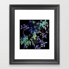 garland of flowers black version Framed Art Print