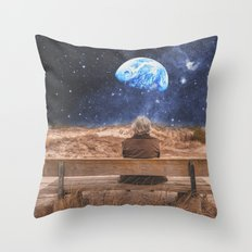 PLANET EARTH, THE UNIVERSE AND I Throw Pillow