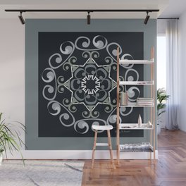 Grace Mandala - Gray Black Wall Mural