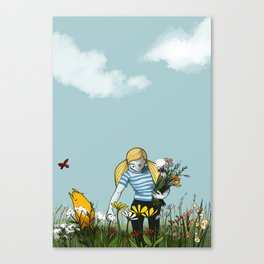 May in the field Canvas Print