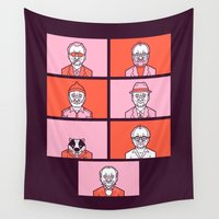 wes anderson Wall Tapestries featuring Bill x Wes by Spencer Frühling