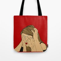 introvert Tote Bags featuring Introvert 5 by Heidi Banford