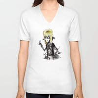 tim burton V-neck T-shirts featuring Burton Labyrinth by Ludwig Van Bacon