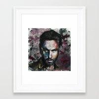 rick grimes Framed Art Prints featuring Rick Grimes by Jhaiku