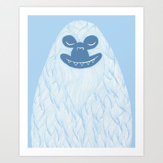 Yeti Art Print
