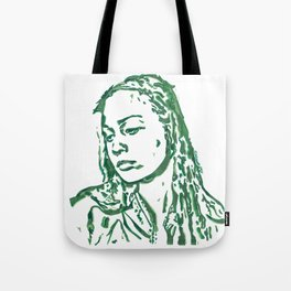 Fiona Apple in Lines Tote Bag