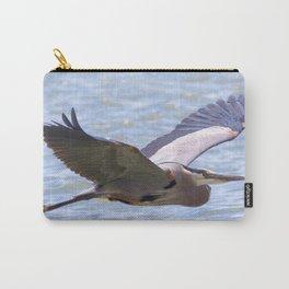 Watercolor Bird, Great Blue Heron 04, Longmont, Colorado Carry-All Pouch