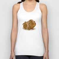 guinea pig Tank Tops featuring grumpy old guinea pig  by Devon Busby Busbyart