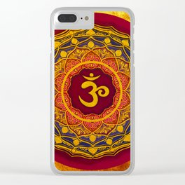 OM MANDALA BY ILSE QUEZADA Clear iPhone Case