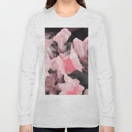 Light Pink Snapdragons Abstract Flowers Long Sleeve T-shirt