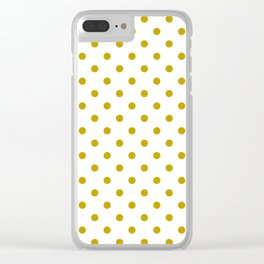 White and Gold Polka Dots Clear iPhone Case