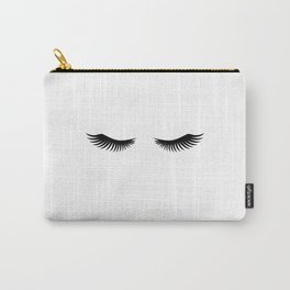 Eyelashes Print,Makeup Poster,Bathroom Decor,Girls Room Decor,Girls Bedroom Decor,Home Decor Carry-All Pouch