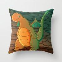 patrick Throw Pillows featuring Patrick by Fernanda Frasson