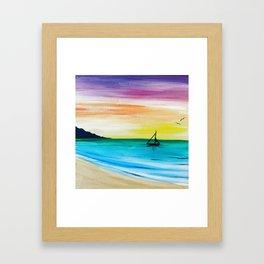Rainbow Sunrise Acrylic Framed Art Print