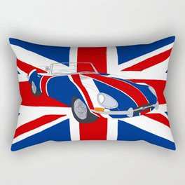Shaguar (on Union Jack) Rectangular Pillow